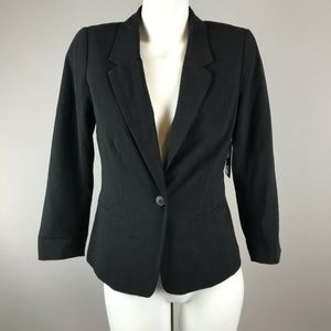 Kensie Rebekah Black Blazer Polka Dot Lining Small